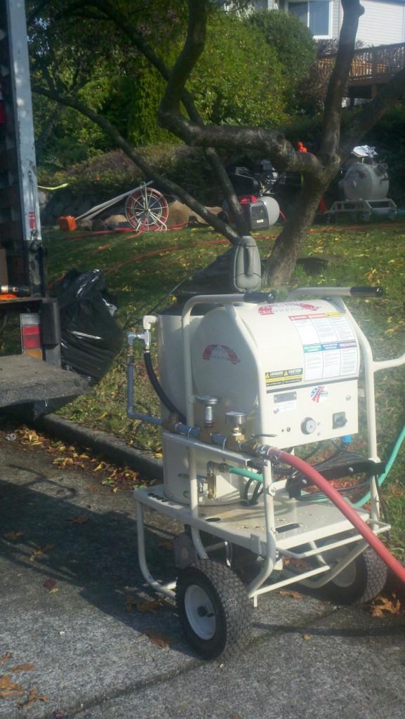 Hot Water Cure in Seattle. Maverick Hot Water Cure Unit Shown